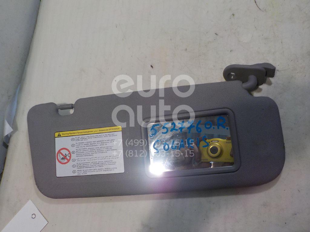 Козырек солнцезащитный (внутри) для Hyundai Solaris/Accent IV 2010> - Фото №1