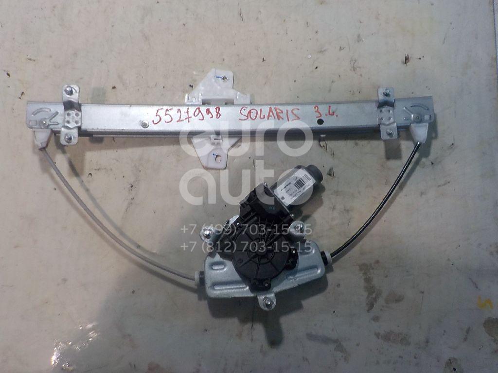Стеклоподъемник электр. задний левый для Kia Solaris/Accent IV 2010>;RIO 2011> - Фото №1
