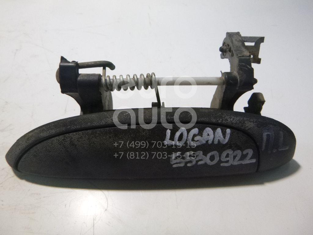 Ручка двери наружная левая для Renault Logan 2005-2014;Megane 1999-2002;Scenic 1999-2002;Clio/Symbol 1998-2008 - Фото №1