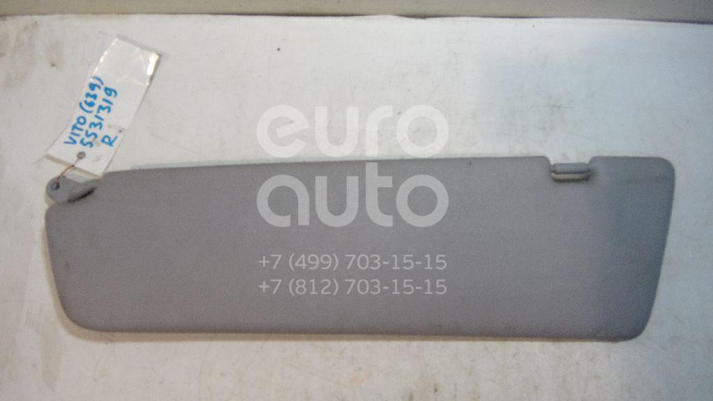 Козырек солнцезащитный (внутри) для Mercedes Benz Vito/Viano-(639) 2003-2014;VANEO W414 2001-2006 - Фото №1