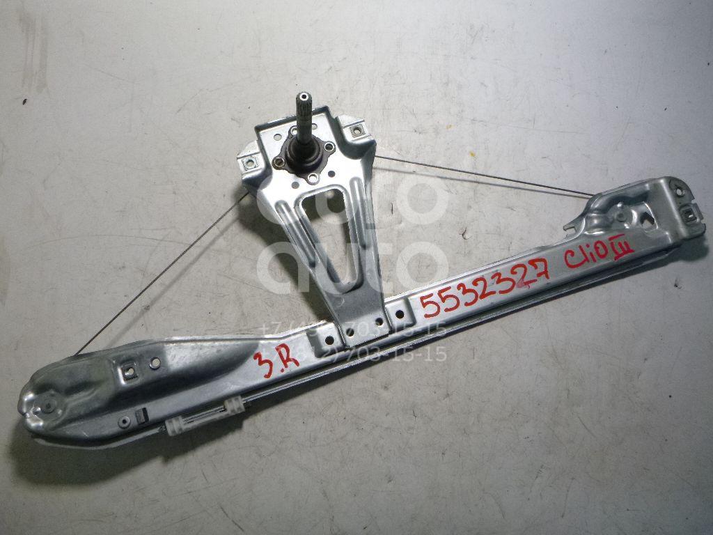 Стеклоподъемник механ. задний правый для Renault Clio III 2005-2012 - Фото №1