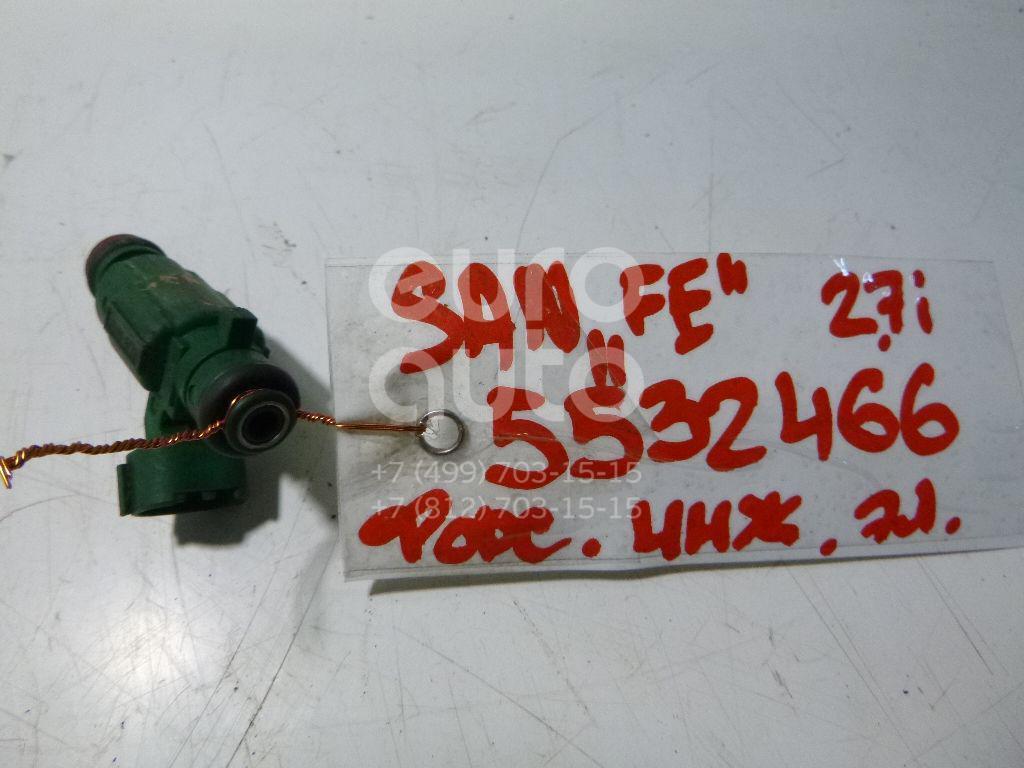 Форсунка инжекторная электрическая для Hyundai,Kia Santa Fe (SM) 2000-2005;Sonata V (NEW EF) 2001-2012;Tucson 2004-2010;RIO 2005-2011;Verna/Accent III 2006-2010 - Фото №1