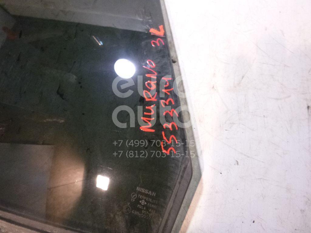Стекло двери задней левой для Nissan Murano (Z50) 2004-2008 - Фото №1