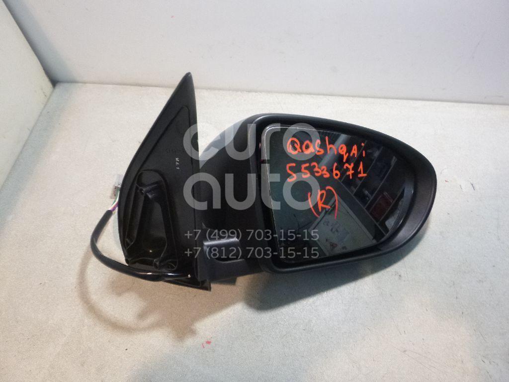 Зеркало правое электрическое для Nissan Qashqai (J10) 2006-2014;Qashqai+2 (JJ10) 2008-2014 - Фото №1