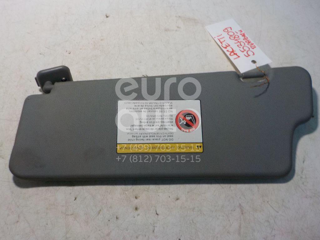 Козырек солнцезащитный (внутри) для Chevrolet,Daewoo Lacetti 2003-2013;Nubira 2003-2007 - Фото №1