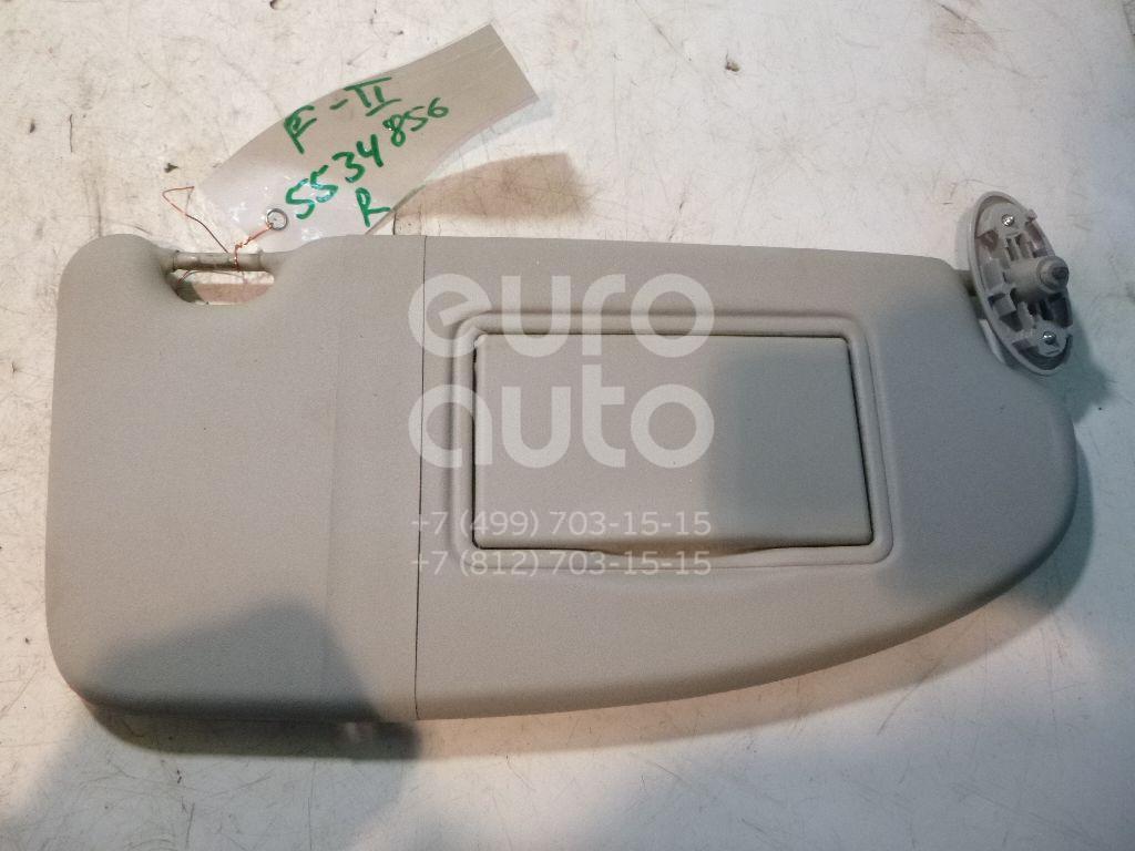 Козырек солнцезащитный (внутри) для Ford Focus II 2005-2008;Focus II 2008-2011 - Фото №1