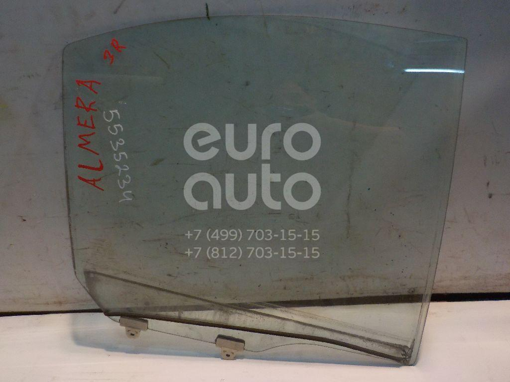 Стекло двери задней правой для Nissan Almera N16 2000-2006 - Фото №1