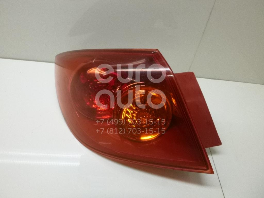 Фонарь задний наружный левый для Mazda Mazda 3 (BK) 2002-2009 - Фото №1
