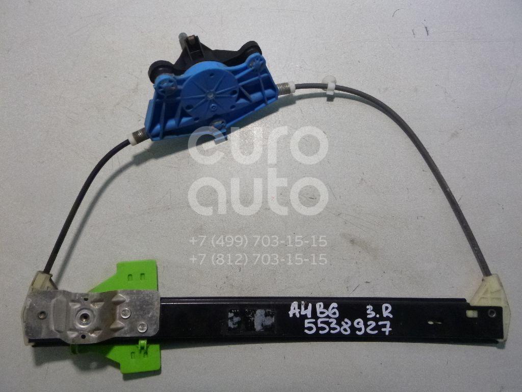 Стеклоподъемник механ. задний правый для Audi A4 [B6] 2000-2004 - Фото №1