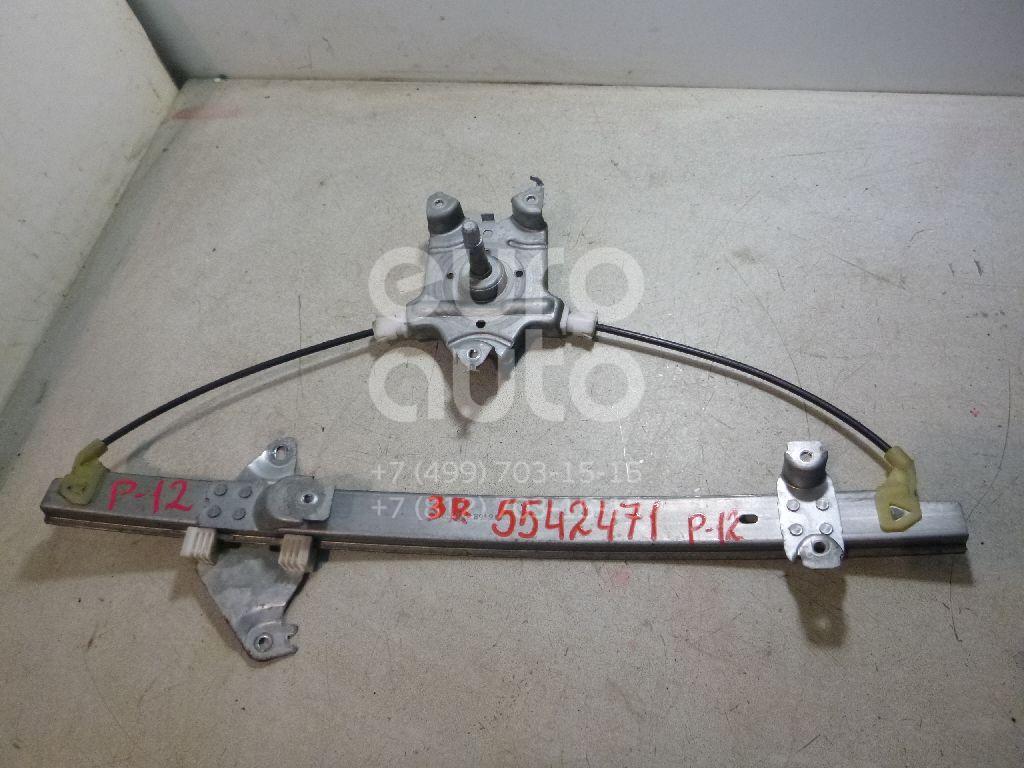 Стеклоподъемник механ. задний правый для Nissan Primera P12E 2002-2007 - Фото №1