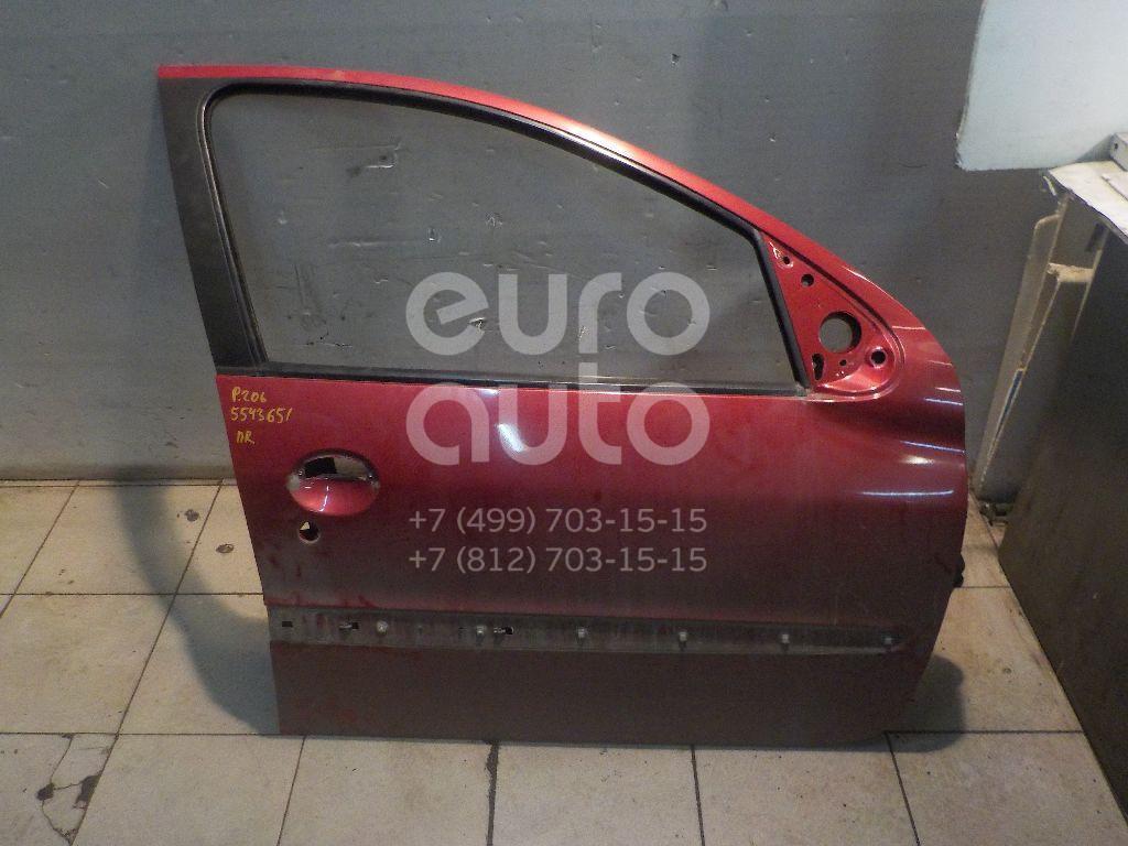 Дверь передняя правая для Peugeot 206 1998-2012 - Фото №1