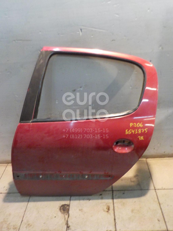 Дверь задняя левая для Peugeot 206 1998> - Фото №1