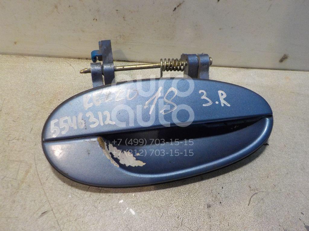 Ручка двери задней наружная правая для Chevrolet,Daewoo Rezzo 2005-2010;Rezzo 2000-2011 - Фото №1