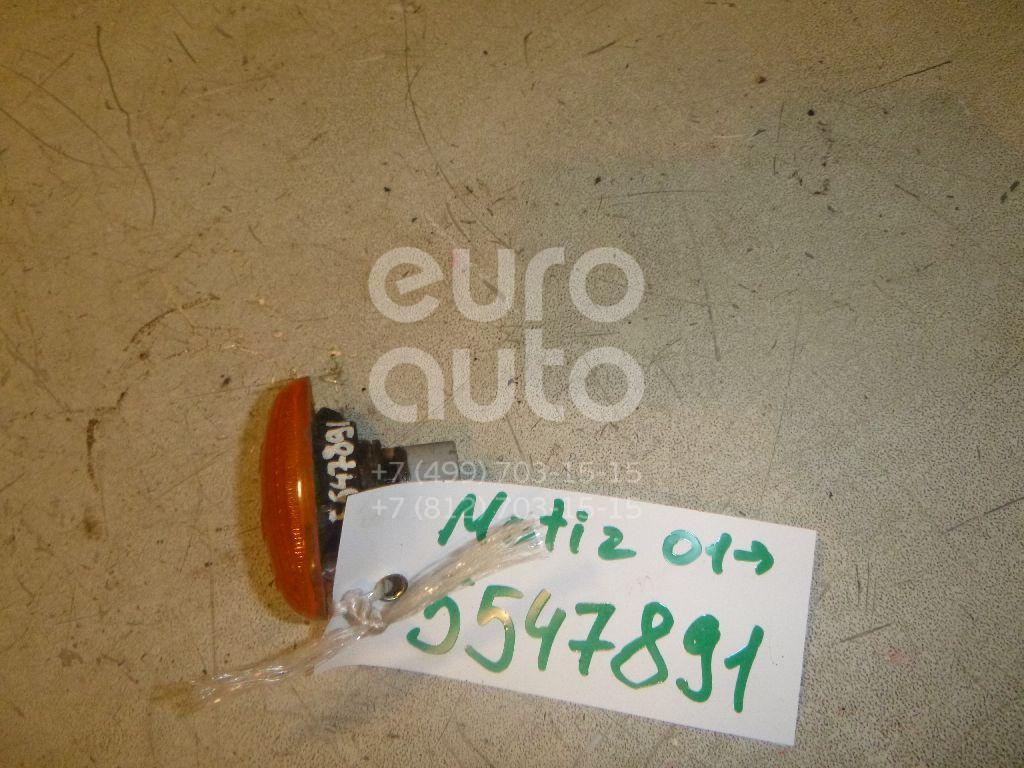 Повторитель на крыло желтый для Chevrolet Matiz 2001>;Spark 2005-2011 - Фото №1