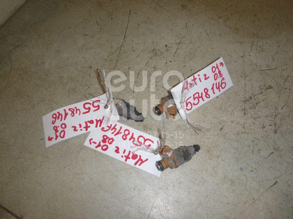 Форсунка инжекторная электрическая для Daewoo,Chevrolet Matiz 1998>;Aveo (T200) 2003-2008;Spark 2005-2011;Aveo (T250) 2005-2011 - Фото №1