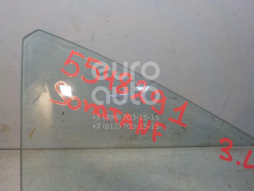 Стекло двери задней левой (форточка) для Hyundai Sonata V (NF) 2005-2010 - Фото №1