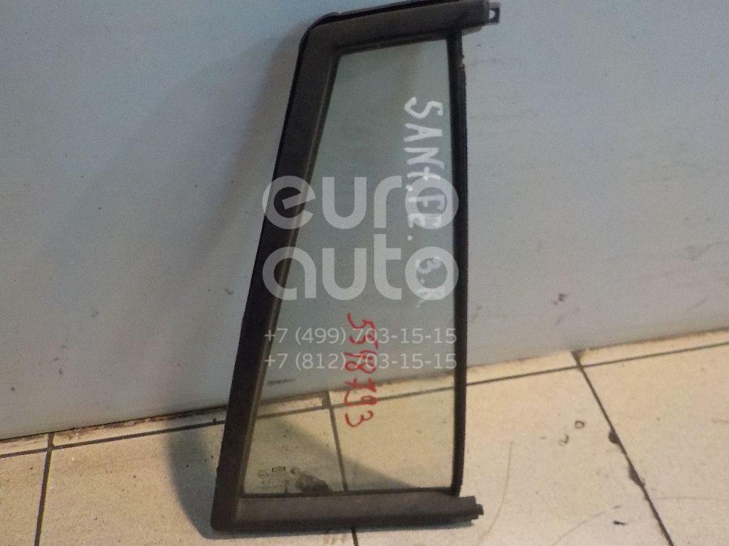 Стекло двери задней правой (форточка) для Hyundai Santa Fe (SM) 2000-2005 - Фото №1