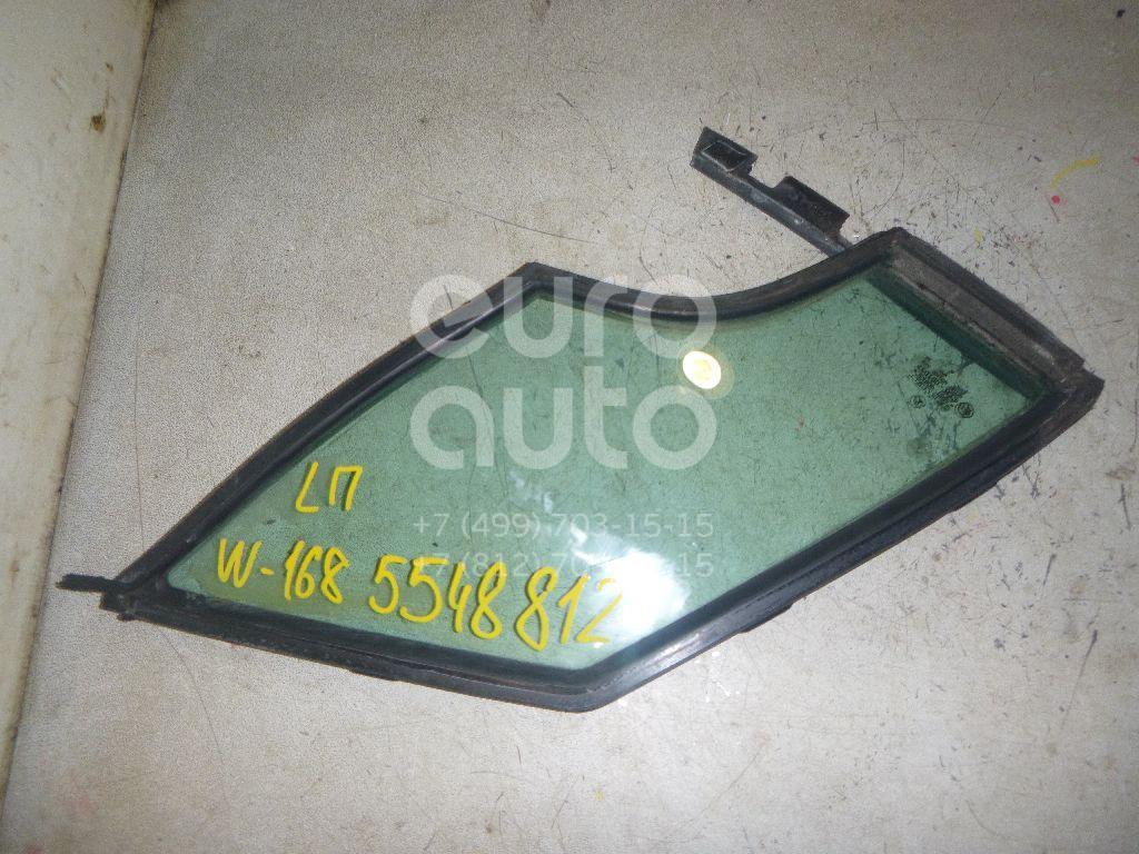 Стекло двери передней левой (форточка) для Mercedes Benz A140/160 W168 1997-2004 - Фото №1