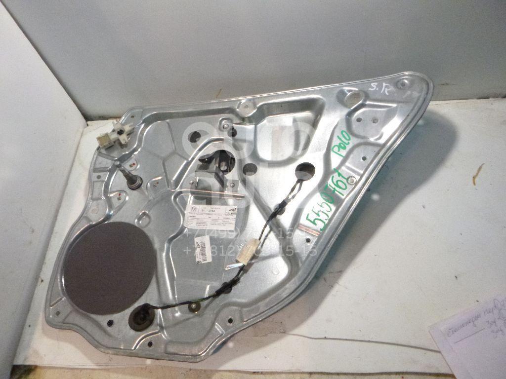 Стеклоподъемник механ. задний правый для VW Polo 2001-2009 - Фото №1