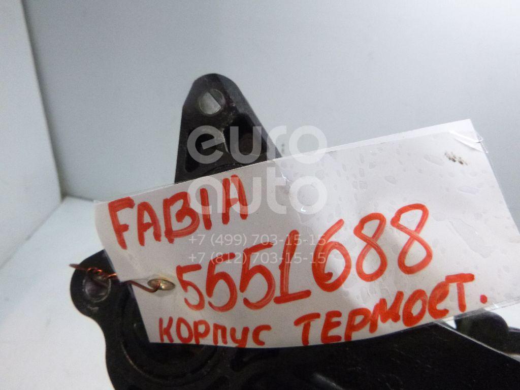 Корпус термостата для Skoda,VW,Seat Fabia 2007-2015;Fabia 1999-2006;Polo 2001-2009;Ibiza V 2008>;Roomster 2006-2015;Cordoba 2003-2008;Ibiza IV 2002-2008;Polo (HB) 2009> - Фото №1