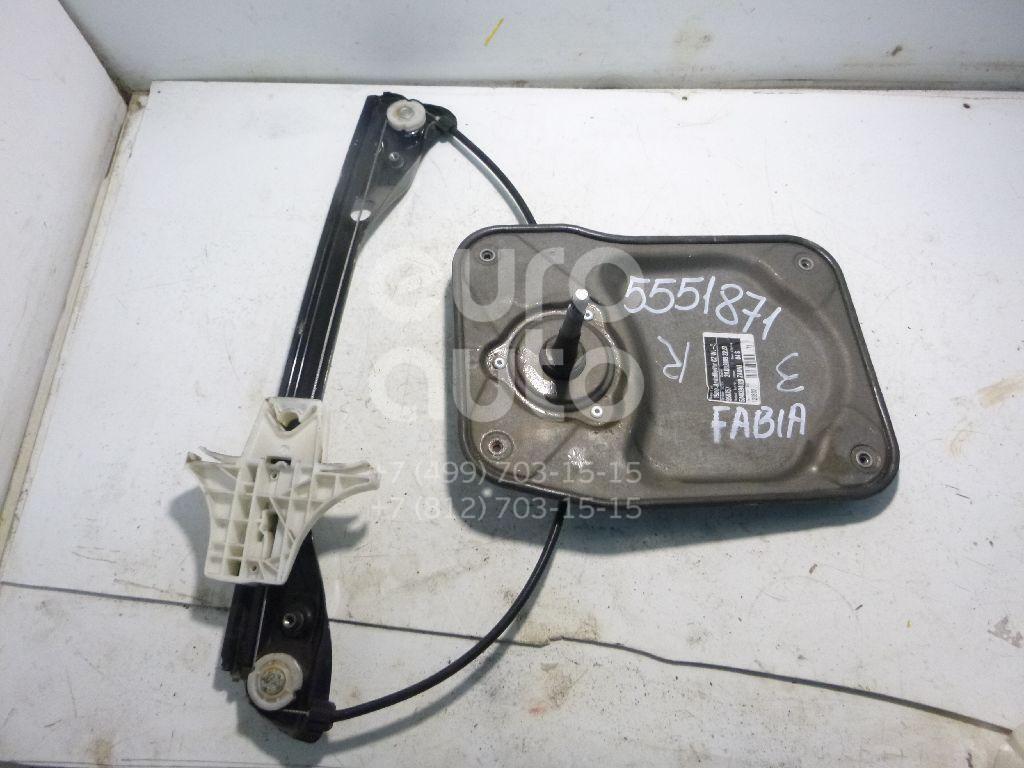 Стеклоподъемник механ. задний правый для Skoda Fabia 2007-2015 - Фото №1