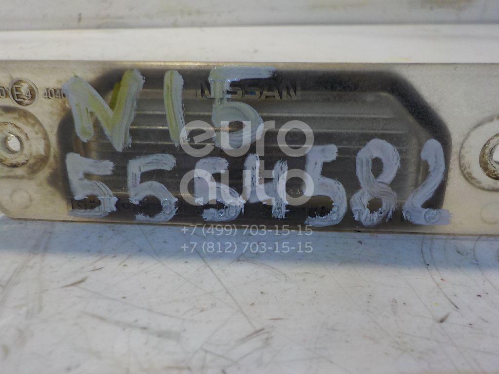 Фонарь подсветки номера для Nissan,Infiniti Almera N15 1995-2000;Primera P11E 1996-2002;FX (S50) 2003-2007;Maxima (A33) 2000-2005;Primera P12E 2002-2007;M/Q70 (Y51) 2010> - Фото №1