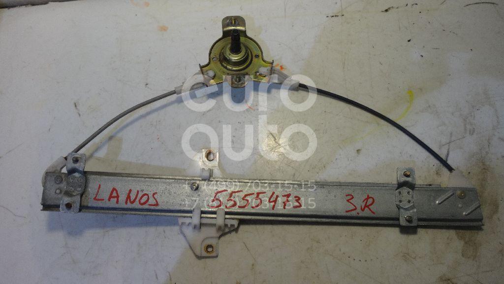 Стеклоподъемник механ. задний правый для Chevrolet Lanos 1997>;Lanos 2004> - Фото №1