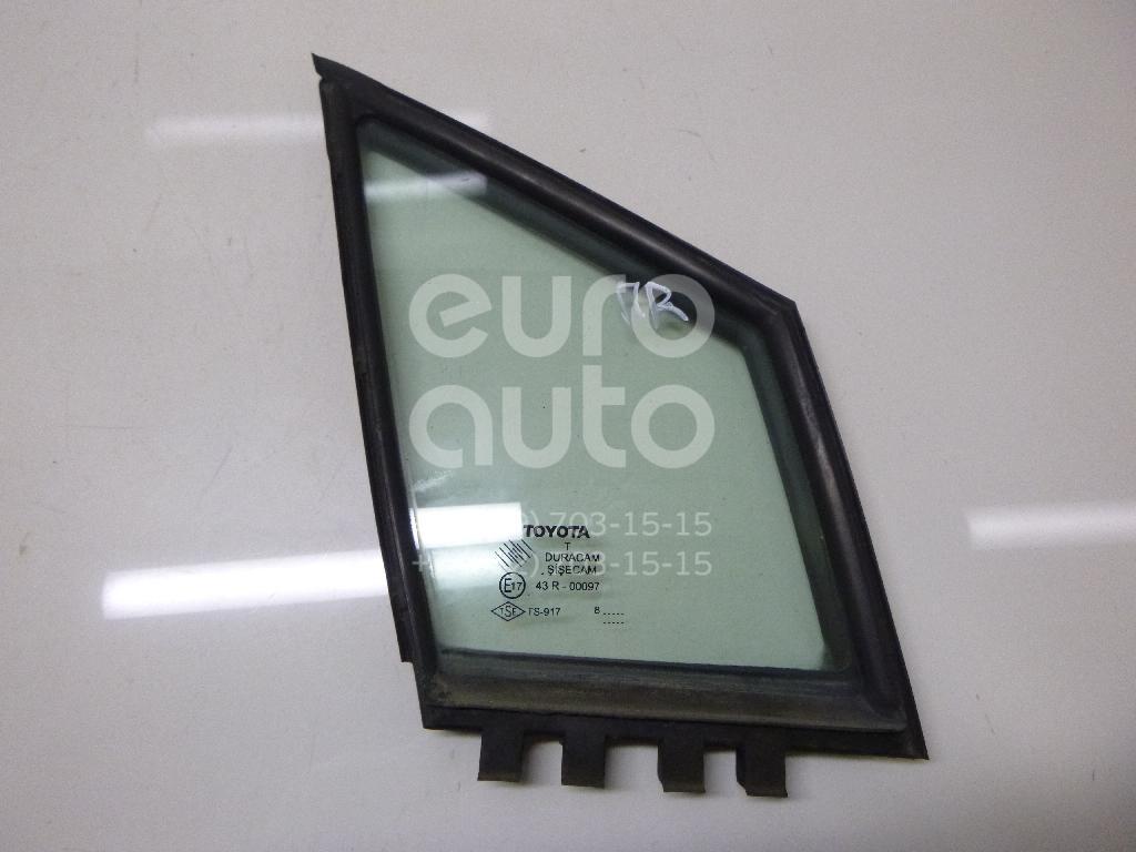 Купить Стекло двери передней правой (форточка) Toyota CorollaVerso 2004-2009; (681250F010)