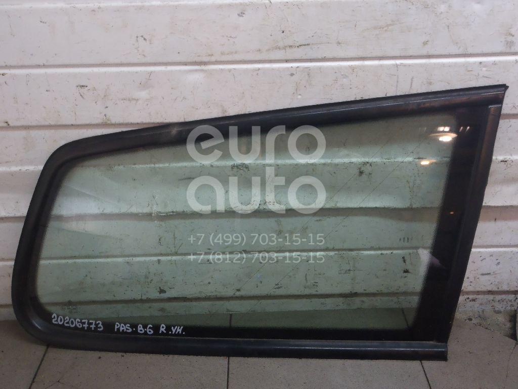 Купить Стекло кузовное глухое правое VW Passat [B6] 2005-2010; (3C9845298D5AP)