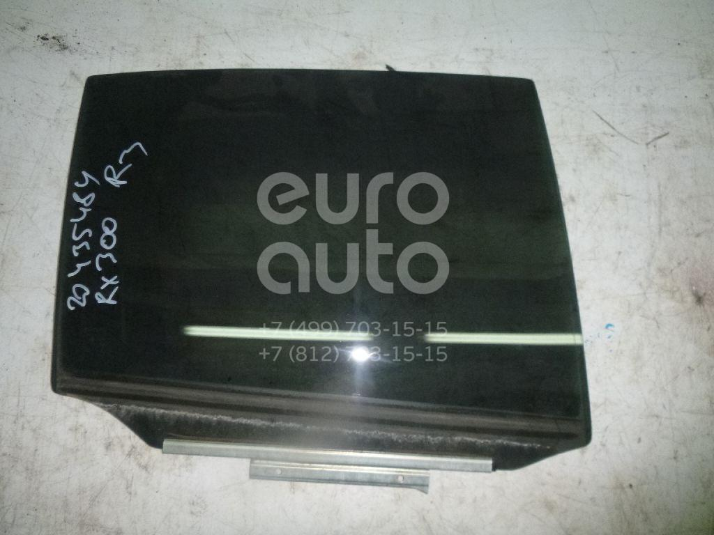 Купить Стекло двери задней правой Lexus RX 300/330/350/400h 2003-2009; (6810348130)