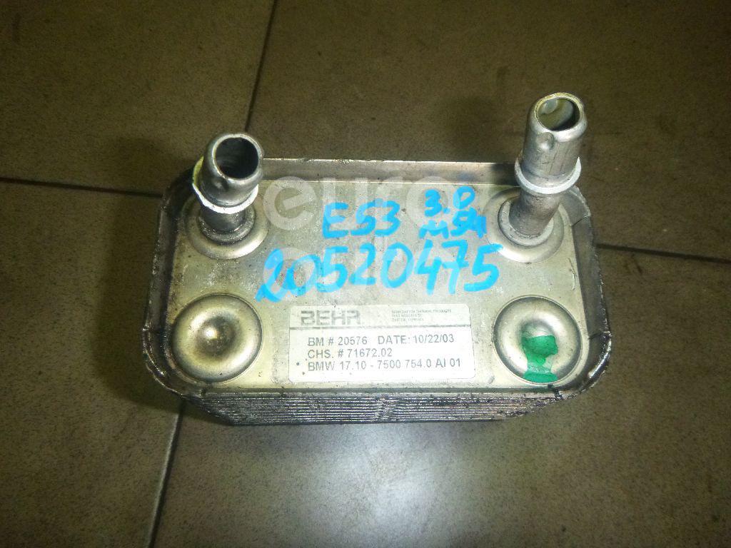 Купить Радиатор (маслоохладитель) АКПП BMW X5 E53 2000-2007; (17107500754)