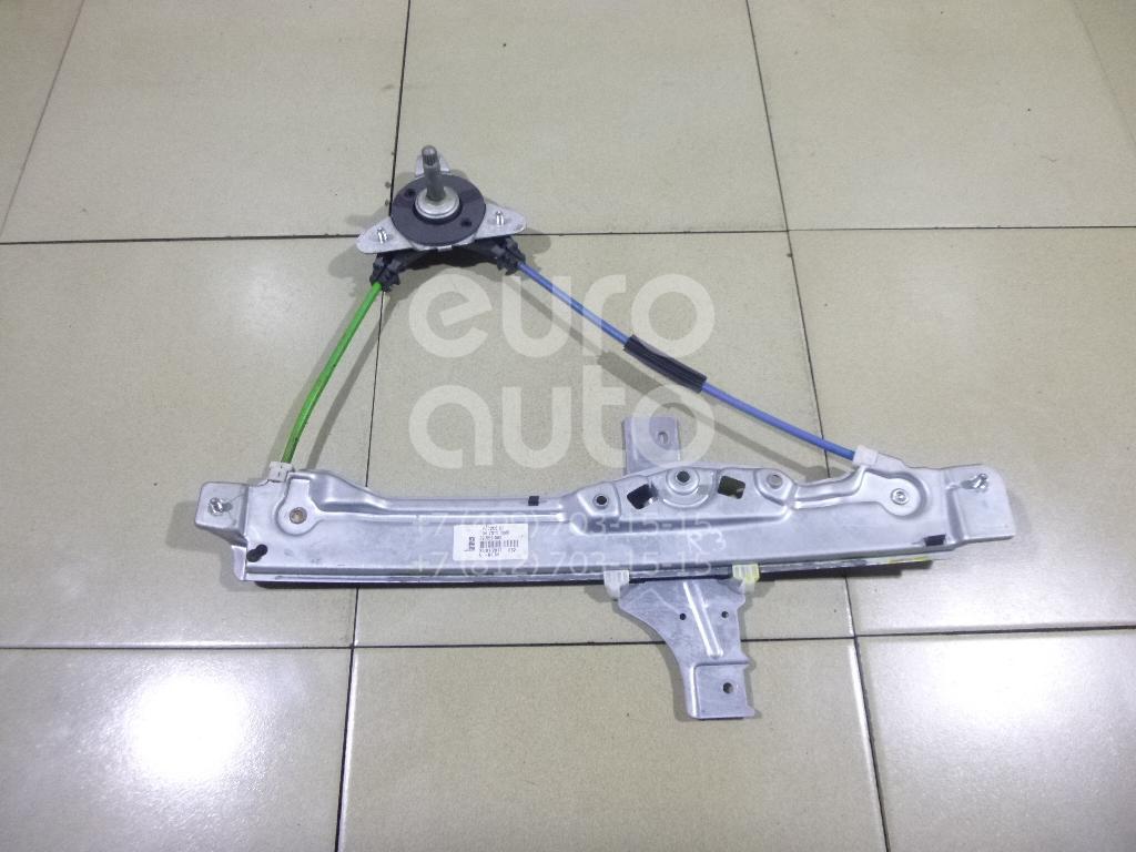 Стеклоподъемник механ. задний правый Peugeot 208 2012-; (9673153880)