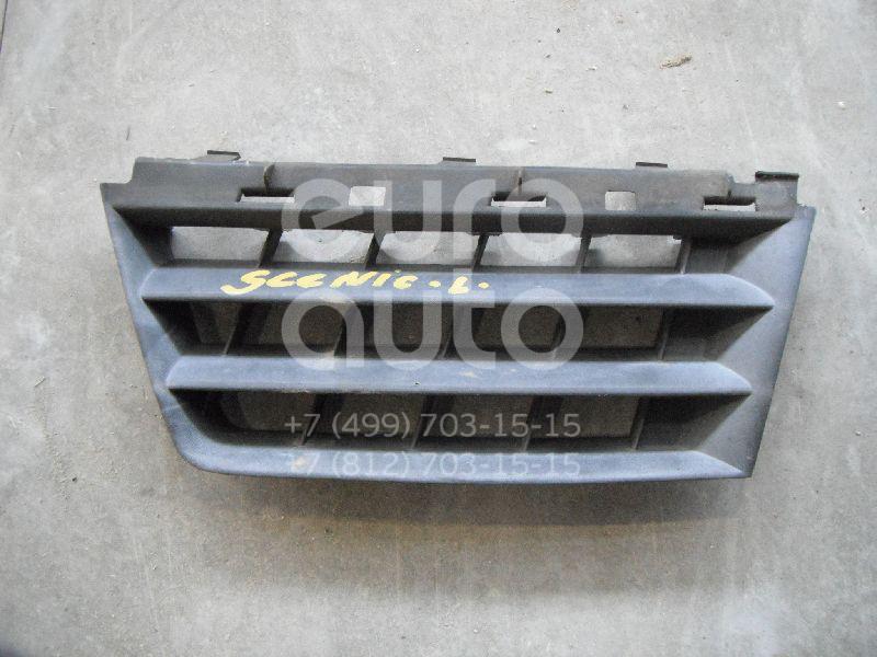 Решетка радиатора левая для Renault Scenic 2003-2009 - Фото №1