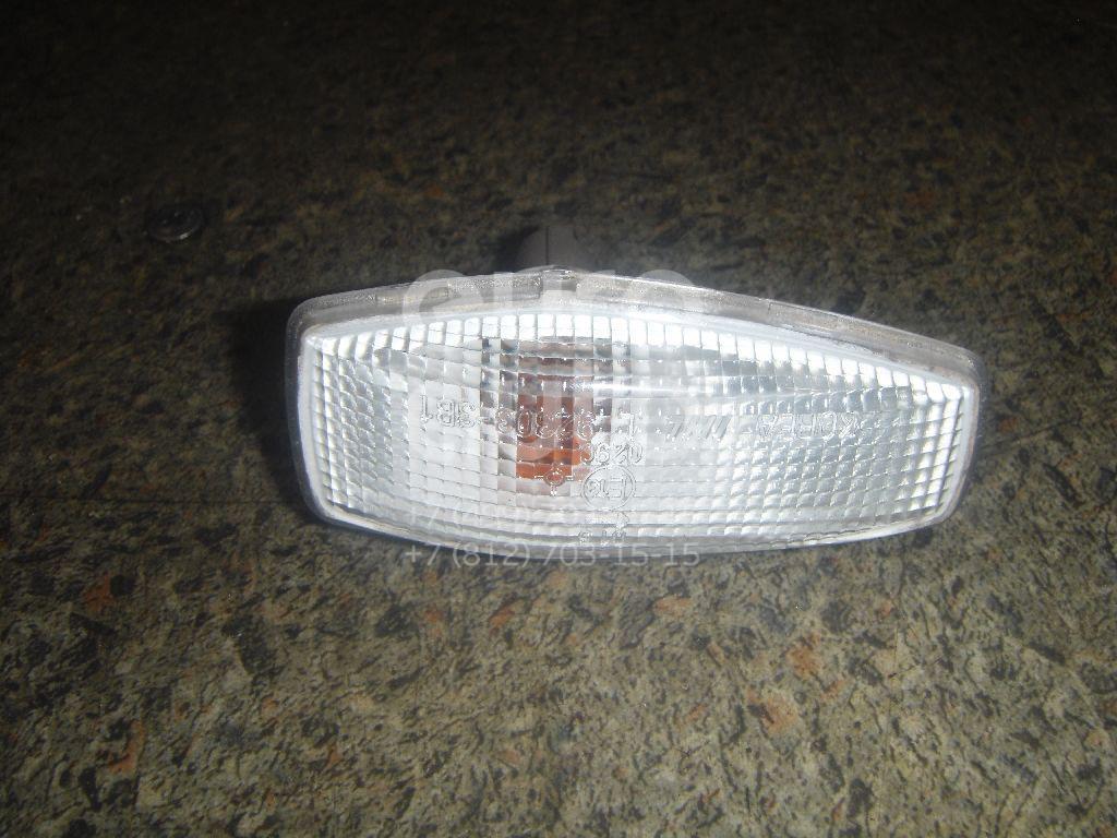 Повторитель на крыло правый белый для Hyundai Terracan 2001-2007;Sonata IV (EF)/ Sonata Tagaz 2001-2012 - Фото №1