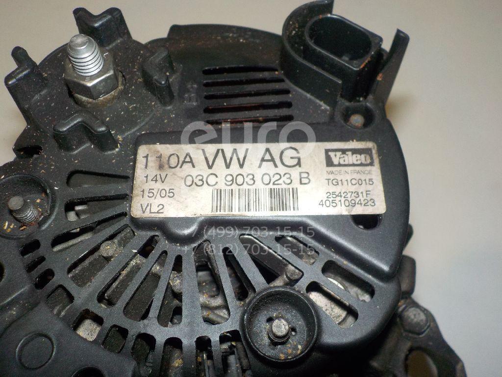 Генератор для VW,Audi,Seat,Skoda Golf V Plus 2005-2014;A3 [8PA] Sportback 2004-2013;Passat [B6] 2005-2010;Golf V 2003-2009;Touran 2003-2010;A3 [8P1] 2003-2013;Jetta 2006-2011;Ibiza V 2008>;Fabia 2007-2015;Octavia (A5 1Z-) 2004-2013 - Фото №1