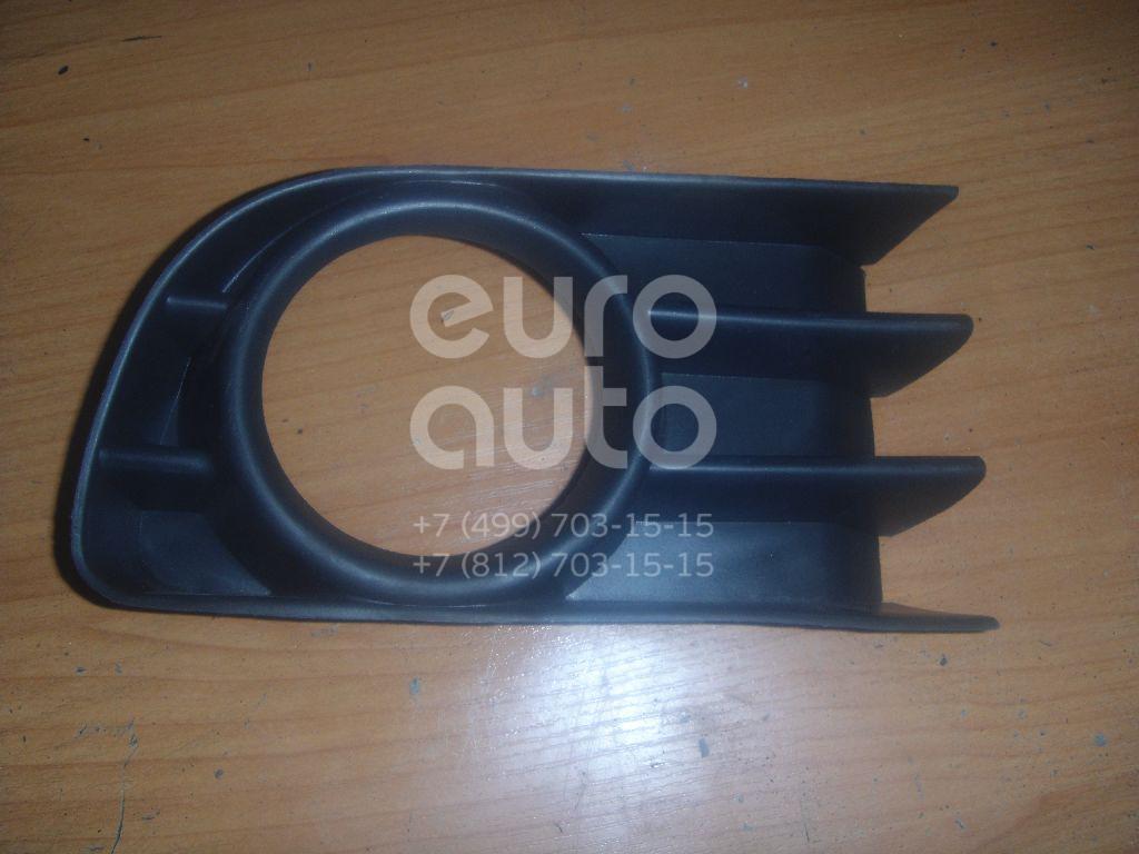 Решетка в бампер левая для Renault Megane II 2003-2009 - Фото №1