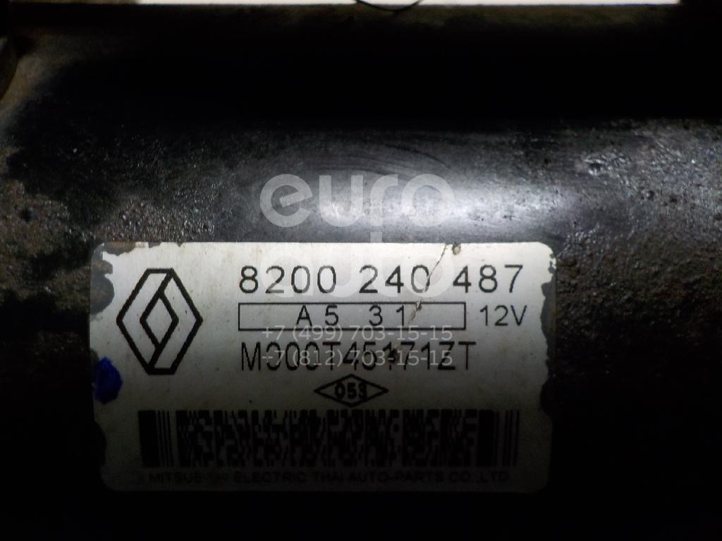 Стартер для Renault Logan 2005-2014;Megane II 2003-2009;Megane I 1999-2004;Scenic II 2003-2009;Scenic 1999-2003;Laguna II 2001-2008;Clio II/Symbol 1998-2008;Symbol II 2008-2012;Sandero 2009-2014;Fluence 2010> - Фото №1