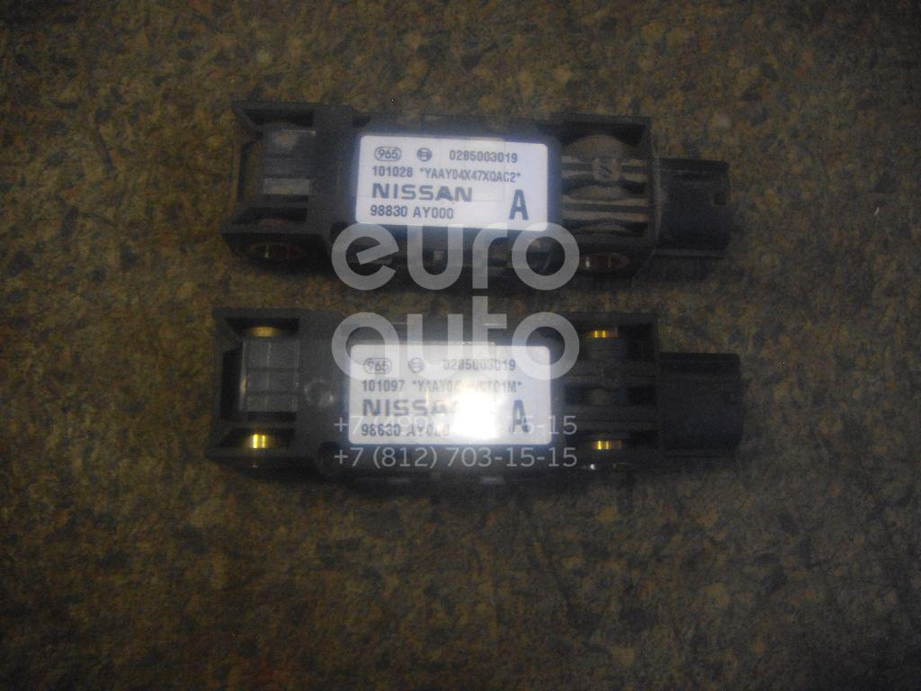 Датчик AIR BAG для Nissan Almera N16 2000-2006;Terrano II (R20) 1993-2004;Almera Tino 2000-2006;Pathfinder (R51M) 2004-2013;Note (E11) 2006-2013;Primera P12E 2002-2007;Micra (K12E) 2002-2010;Navara (D40) 2005-2015 - Фото №1