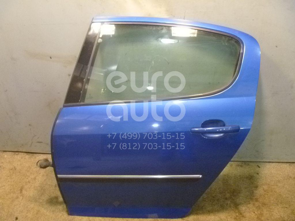 Дверь задняя левая для Peugeot 407 2004-2010 - Фото №1