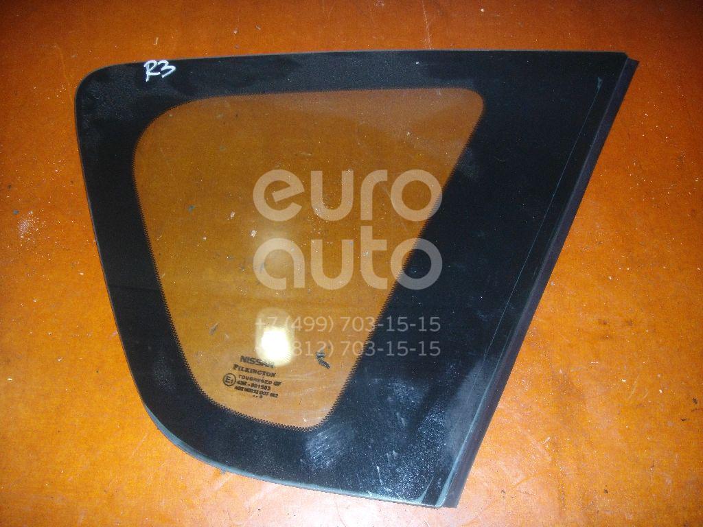 Стекло кузовное глухое правое для Nissan Note (E11) 2006-2013 - Фото №1