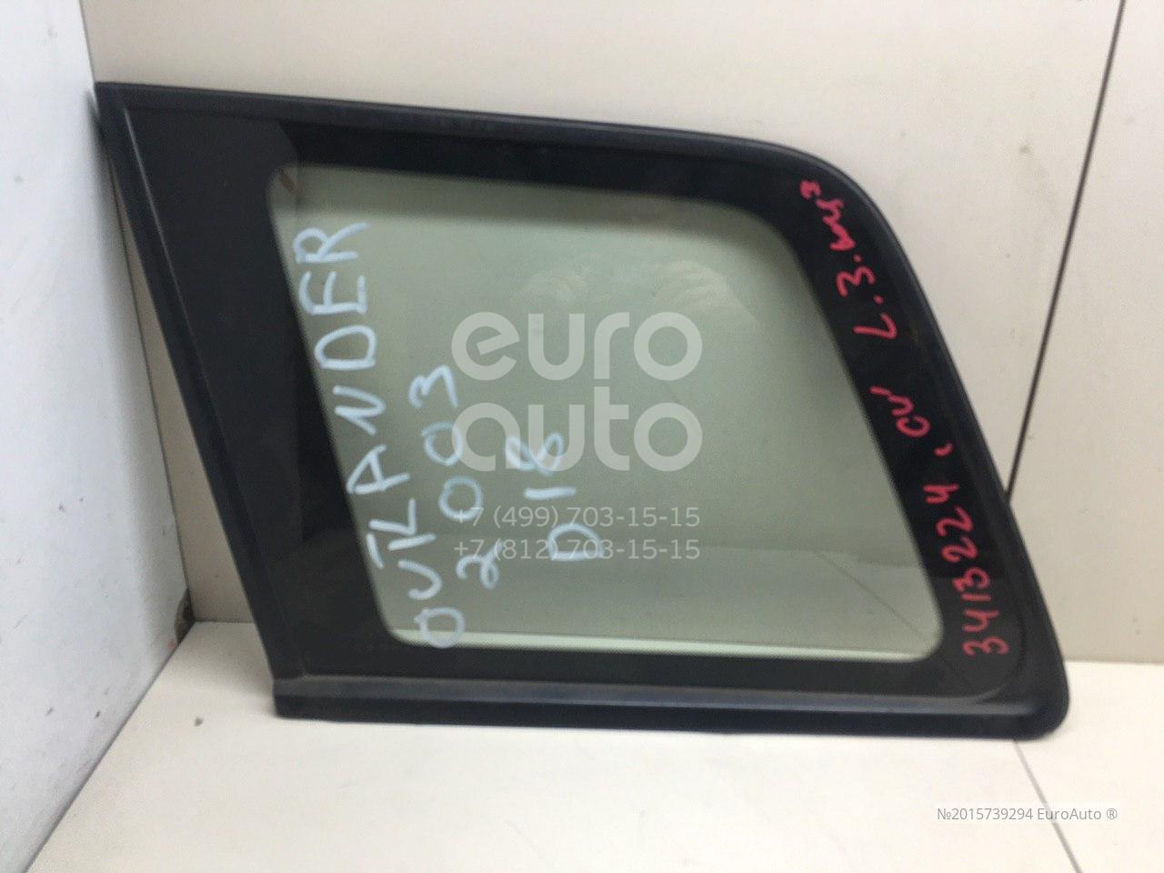 Стекло кузовное глухое левое для Mitsubishi Outlander (CU) 2003-2009 - Фото №1
