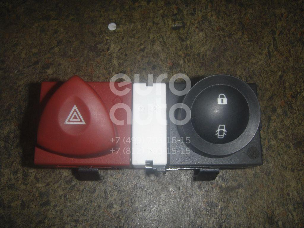 Кнопка аварийной сигнализации для Renault Megane II 2002-2009;Scenic 2003-2009 - Фото №1