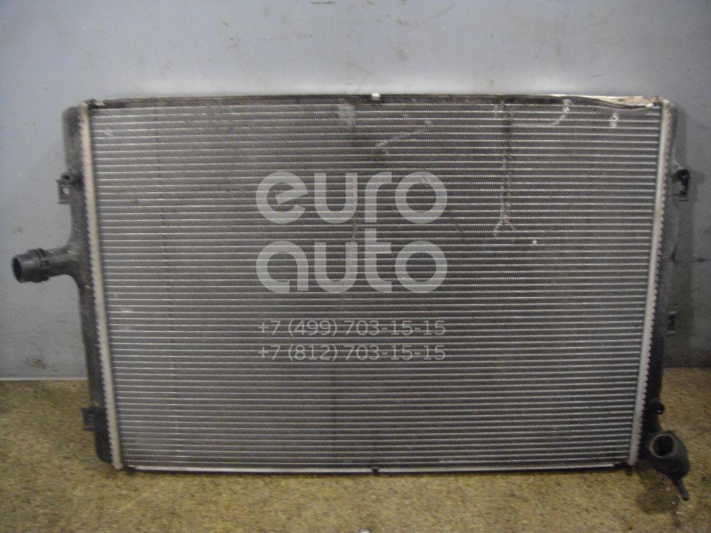 Радиатор основной для VW,Audi,Skoda,Seat Passat [B6] 2005-2010;TT(8N) 1998-2006;Octavia (A4 1U-) 2000-2011;Leon (1M1) 1999-2006;A3 [8PA] Sportback 2004-2013;Caddy III 2004-2015;Golf V Plus 2005-2014;Golf V 2003-2009;Touran 2003-2010 - Фото №1