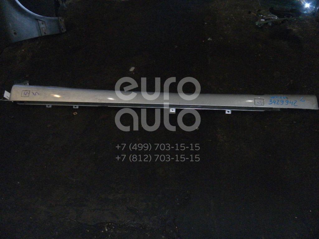 Накладка на порог (наружная) для Mercedes Benz W220 1998-2005 - Фото №1