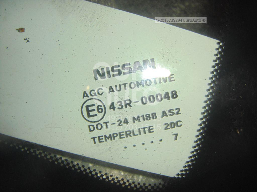 Стекло кузовное глухое правое для Nissan Qashqai (J10) 2006-2014 - Фото №1