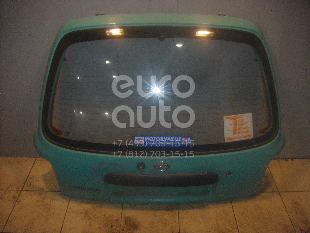 Дверь багажника со стеклом для Nissan Micra (K11E) 1992-2002 - Фото №1