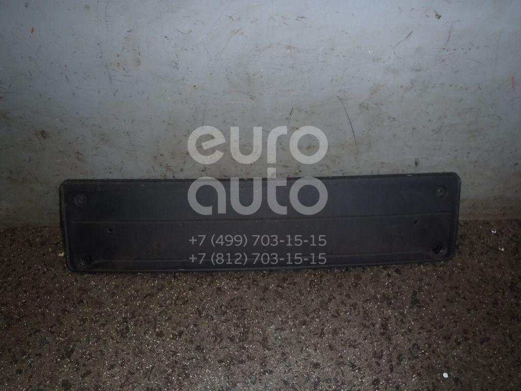 Накладка переднего бампера под номер для BMW X6 E71 2008-2014 - Фото №1