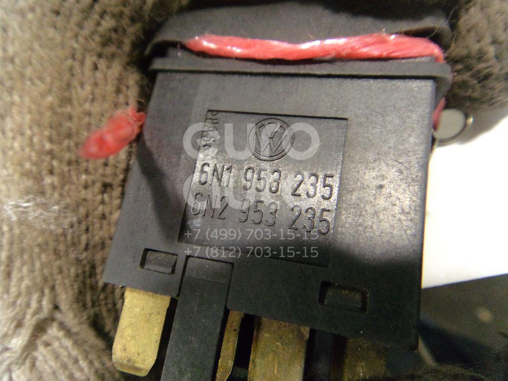 Кнопка аварийной сигнализации для VW,Seat Polo 1994-1999;Cordoba 1993-1996;Ibiza II 1993-1996;Caddy II 1995-2004;Arosa 1997-2004;Polo Classic 1995-2002;Cordoba 1996-1999 - Фото №1