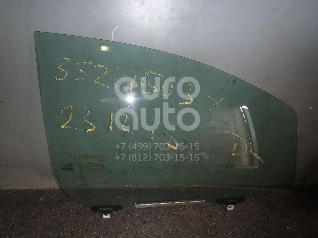Стекло двери передней правой для Toyota Yaris 2005-2011 - Фото №1