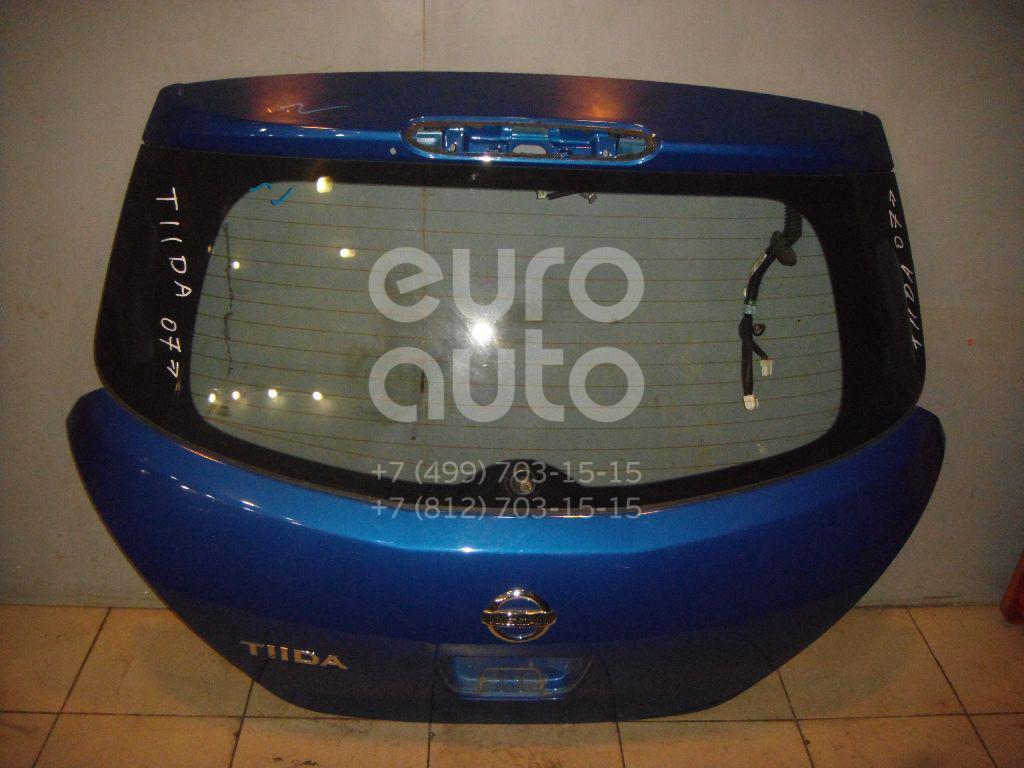 Дверь багажника со стеклом для Nissan Tiida (C11) 2007> - Фото №1